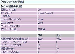 フレッツADSLモア3に対応しているNTT東日本のADSLモデムNV3ですが,通常は目にすることのできない「メンテナンスモード」というものがあります